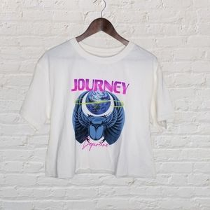 Journey Cropped Graphic Tee Lrg